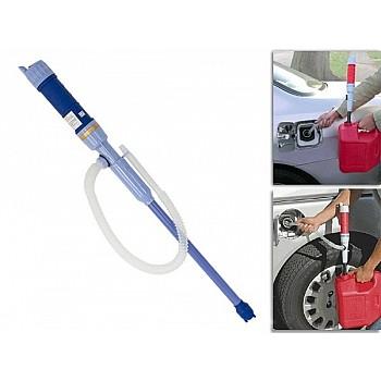 Elektriskais sūknis šķidrumiem uz baterijām (ūdens, eļļa, benzīns utt.) Pumpji