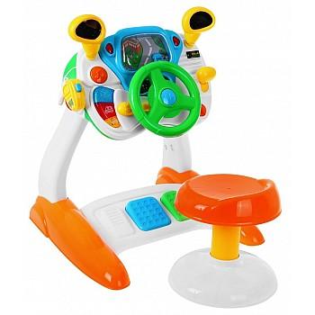 Bērnu braukšanas simulators ar skaņas un gaismas efektiem Attīstošās Rotaļlietas