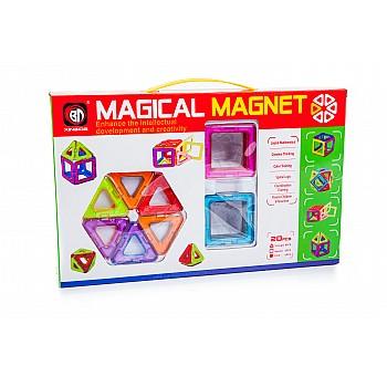 Magnētiskais konstruktors 20 el. Magical Magnet Rotaļlietas un Preces Bērniem