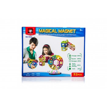 Magnētiskais konstruktors 52 el. Magical Magnet Rotaļlietas un Preces Bērniem