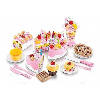 Bērnu rotaļu kūka 75 el. Pink Rotaļlietas un Preces Bērniem