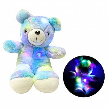 Plīša lācīs ar LED apgaismojumu, 45 cm Blue Plīša rotaļlietas