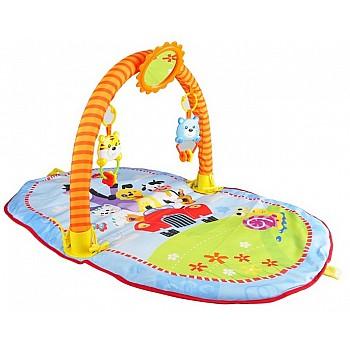 Izglītojošs bērnu rotaļu paklājs ar grabulīšiem un spoguli