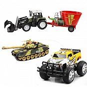 Mašīnītes, spēļu automobīļi, līdmašīnas, Traktori