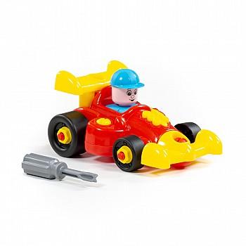 Rotaļu plastmasas sporta mašīna 22 el. Sarkans Mini kompakt mašīnas