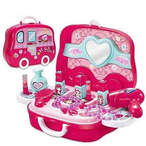 Kosmētikas komplekts ar piederumiem koferī Rotaļlietas un Preces Bērniem