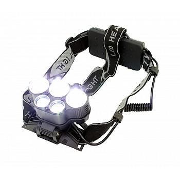 Profesionāls galvas LED lukturis CREE XM-L T6 5XLED Lukturi