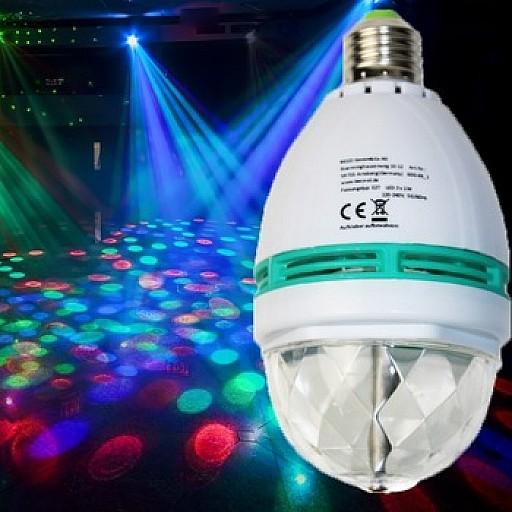 Gaismas projektori, Skaņas ,LED RGB lampas un spuldzes