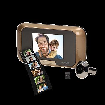 Durvju video actiņa ar 2.8'' ekrānu, microSD, baterijas Novērošanas, IP kameras