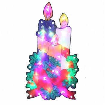 """20 LED Gaismas dekors """"Ziemassvētku sveces"""" Mājai / Dārzam"""