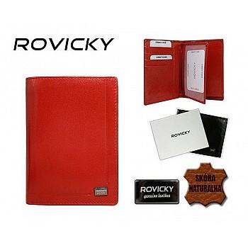 Vīriešu ādas maks Rovicky W2006 Red