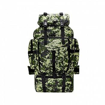 Armijas militārā tūristu mugursoma, zaļa kamuflāža Mugursomas