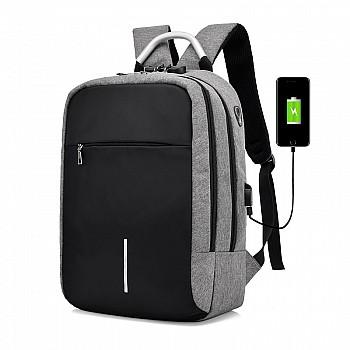 Mugursoma, ūdensdroša un zādzību droša ar USB Mugursomas