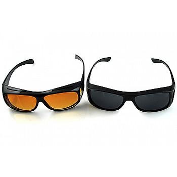 2 HD brilles ar dienas un nakts redzamības lēcām Auto Preces