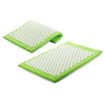 Akupresūras masāžas paklājs, 65x41, zaļš Masāža un relaksācija