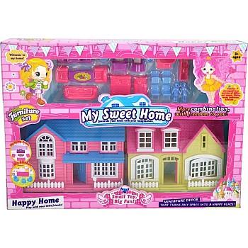 My Sweet Home 2 mājas ar mēbelēm Bērnu virtuves veikali trauki