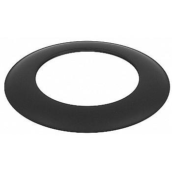 Dekoratīvais gredzens melns 861113 Melnā metāla dūmvadi