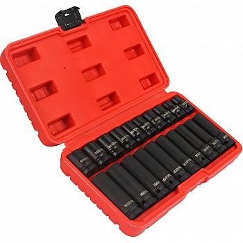 Triecienatslēgas uzgaļu komplekts 1/2''  20gab. M-P Atslēgu komplekti