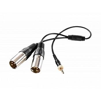 Saramonic SR-UM10-CC1 audio splitter - mini Jack 3.5 mm TRS / 2 x male XLR