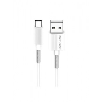 BOROFONE USB Datu kabelis UJet BX11 Apple lightning 1m balts