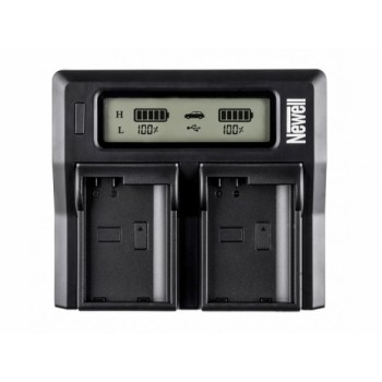Newell DC-LCD two-channel charger for LP-E6 batteries